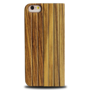 iPhone 6 Full Bamboo Wood Flip Cover - Zebra Bruin