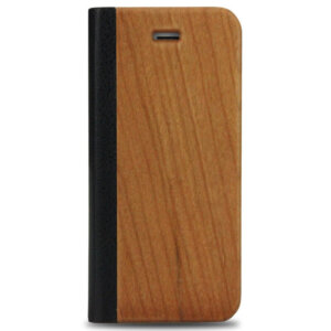 iPhone 5/5S Wood Leather Flip Cover