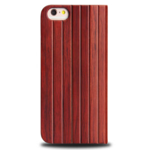 iPhone 6 Full Bamboo Wood Flip Cover - Roodbruin